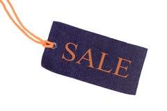 Голубая изолированная бирка продажи Стоковая Фотография RF