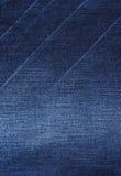 Голубая изолированная текстура предпосылки демикотона Стоковые Фотографии RF
