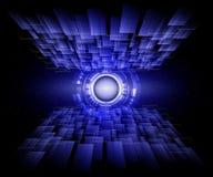 Голубая линия предпосылка абстрактной технологии Стоковые Фотографии RF