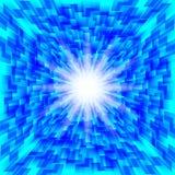 Голубая линия предпосылка абстрактной технологии Стоковое Изображение RF