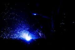 Голубая искра Стоковые Фото
