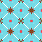 Голубая испанская орнаментальная керамическая плитка Стоковые Фото