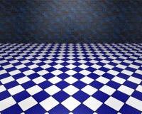 Голубая и белая комната Стоковое Изображение