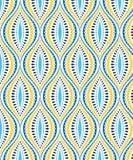 Голубая и желтая декоративная картина иллюстрация штока