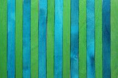 Голубая и зеленая деревянная предпосылка Стоковое Фото