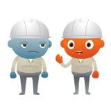 Голубая и оранжевая связь инженера Стоковое Изображение RF