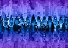 Голубая и фиолетовая текстура предпосылки Grunge Стоковая Фотография RF