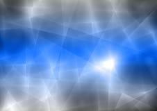 Голубая и черная абстрактная прозрачная предпосылка Стоковые Фотографии RF