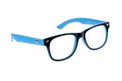 Голубая и черная рамка стекел глаза изолированных на белой предпосылке Стоковое Изображение