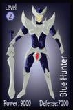 Голубая иллюстрация карточки игроков ратника охотника Стоковые Изображения