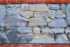 Голубая каменная стена - плитка Стоковое Изображение RF