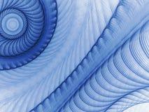 Голубая картина фрактали искусства Стоковое фото RF