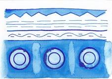 голубая картина Стоковое Изображение RF