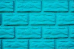 голубая кирпичная стена Стоковое Фото