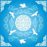 Голубая китайская предпосылка Стоковая Фотография