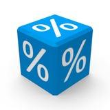 Голубая кнопка процентов Стоковые Изображения RF
