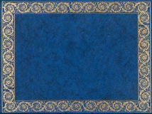 Голубая кожаная крышка Стоковые Фотографии RF