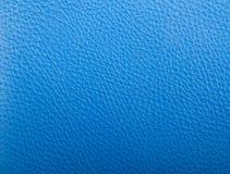 голубая кожаная текстура Стоковое Изображение