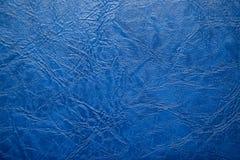 голубая кожаная текстура Стоковое фото RF