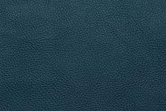 Голубая кожаная grained картина предпосылки текстуры Стоковая Фотография