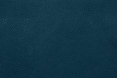 Голубая кожаная grained картина предпосылки текстуры Стоковое фото RF