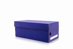 Голубая коробка ботинка с путем клиппирования Стоковая Фотография RF