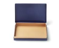 голубая коробка пустая Стоковое Изображение