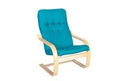 Голубая кресло-качалка изолированная на белой предпосылке Стоковое фото RF