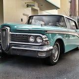 голубая классика автомобиля Стоковые Фотографии RF