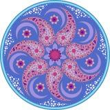 Голубая мандала 1 Стоковая Фотография