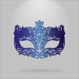 голубая маска масленицы иллюстрация вектора