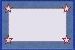 Голубая материальная рамка Стоковое Фото