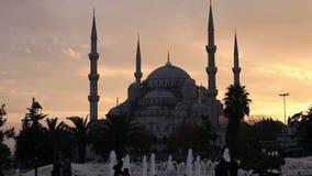 Голубая мечеть на сумраке Стоковые Изображения RF
