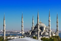 Голубая мечеть, Стамбул, Турция Стоковое Фото