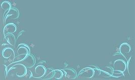 голубая морозная картина Стоковые Фото