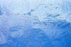 Голубая морозная стеклянная предпосылка льда, естественная картина Стоковая Фотография RF