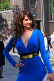Голубая мода Амстердам улицы платья лета Стоковое Изображение RF