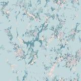 Голубая мраморная текстура с розовым золотом Влияние патины бесплатная иллюстрация