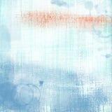 Голубая несенная сложенная предпосылка бумаги Grunge Стоковая Фотография