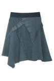 Голубая несимметричная юбка Стоковая Фотография