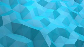 голубая низкая предпосылка тесселяции полигона 3D акции видеоматериалы