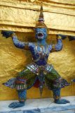 Голубая обезьяна в Ramayana. Стоковая Фотография