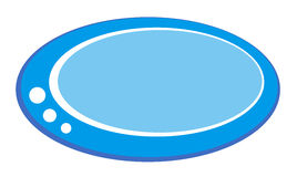 Голубая овальная кнопка с белыми украшениями Стоковые Фотографии RF