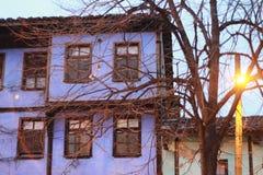 голубая дом стоковые фотографии rf