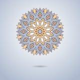 Голубая орнаментальная мандала иллюстрация штока