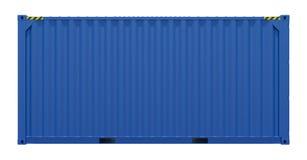 голубая перевозка груза контейнера Стоковое фото RF