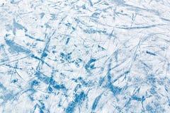 Голубая поверхность льда с царапинами Стоковое Изображение