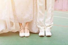 голубая подвязка цветка деталей шнурует венчание Стоковые Изображения