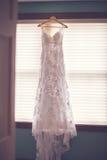 голубая подвязка цветка деталей шнурует венчание Стоковое Изображение