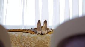голубая подвязка цветка деталей шнурует венчание акции видеоматериалы